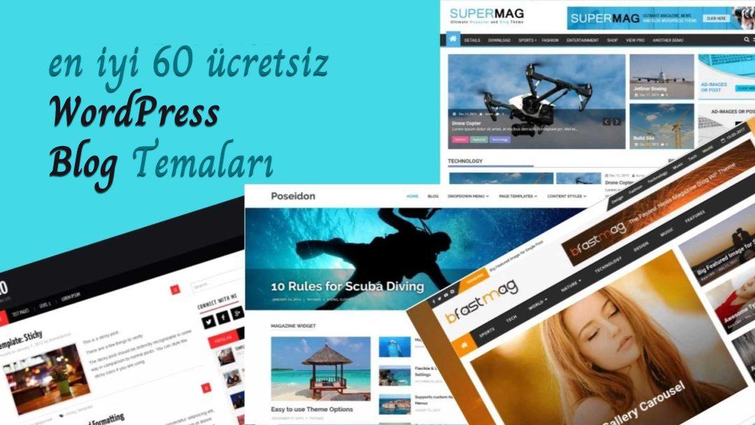 2019 Yılının 60 En İyi Ücretsiz WordPress Blog Teması