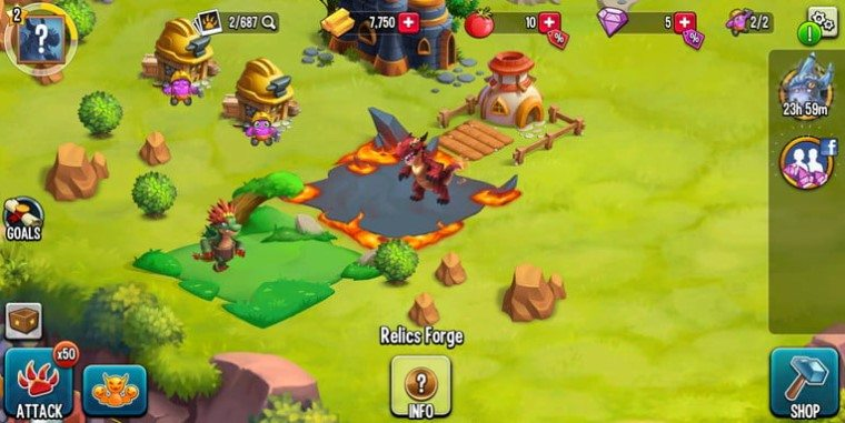 monster legends oyun goruntusu